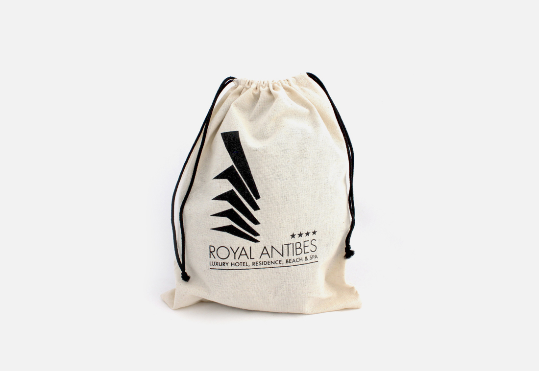 hotel cotton laundry bag or shoes bag