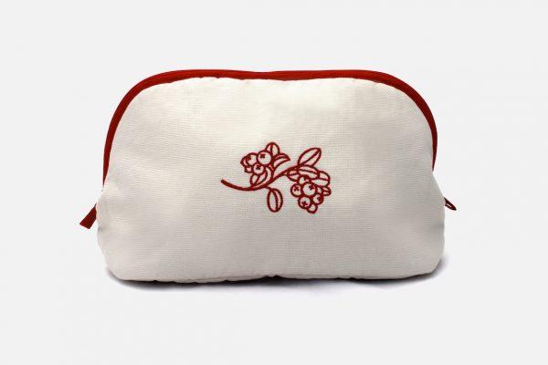 Custom embroidered cosmetic bags - Trousse de toilette personnalisée
