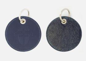 Porte-clés en cuir et peau de vache