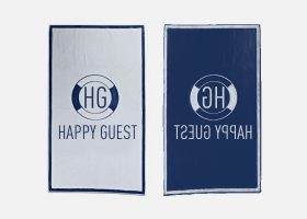 Serviette de bain personnalisée - Personalised printed beach towel