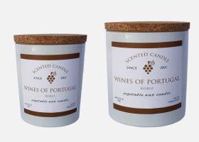 Bougies luxes aux arômes de vin personnalisées