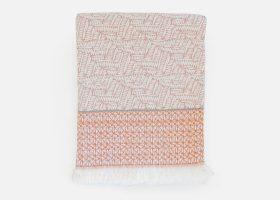 Custom handwoven cotton throw