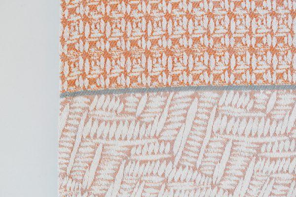 Custom handwoven cotton throw; Plaid d'été en coton tissé