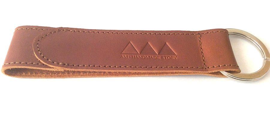 porte-clé en cuir personnalisé;custom leather key ring