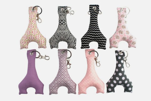 Customizable fabric key rings