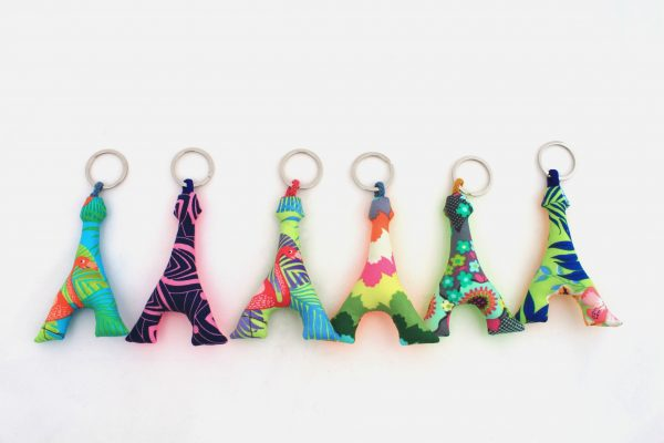 Porte-clés en tissu personnalisables, Customizable fabric key rings