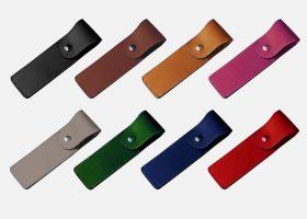Custom leather pen holder