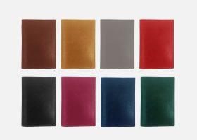Custom leather passport sleeve