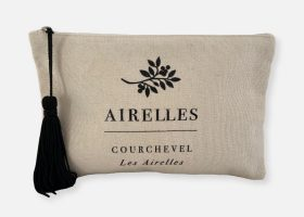 Custom cotton pouch with tassel