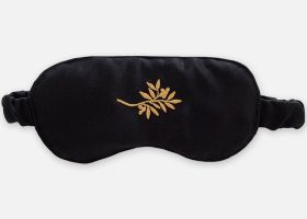Custom satin eye mask
