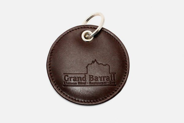 custom round leather key rings,porte-clés ronds en cuir personnalisés