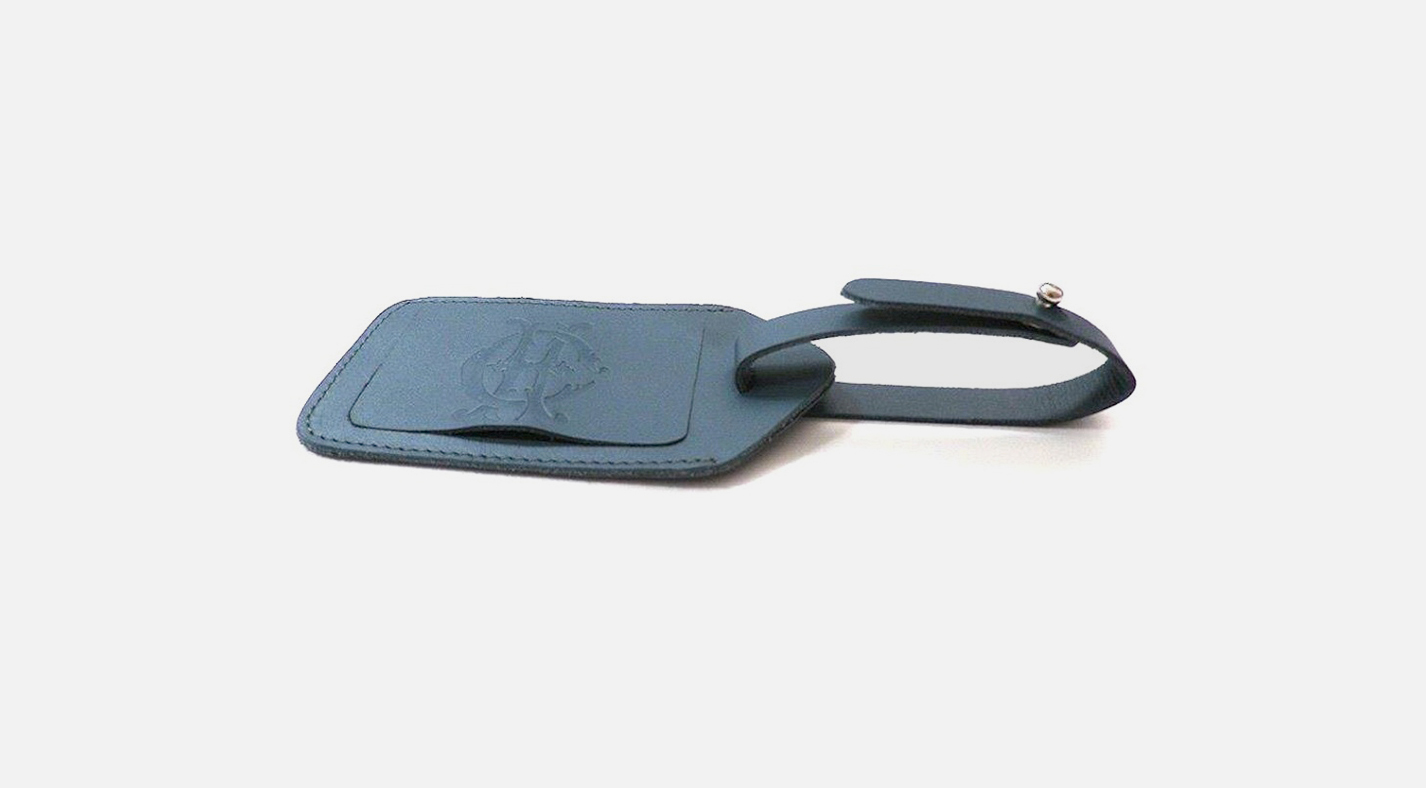 Étiquette de bagage de luxe personnalisée en cuir, Custom luxury leather luggage tag-Étiquette de voyage personnalisée en cuir