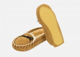 Sheepskin mocassin sleepers
