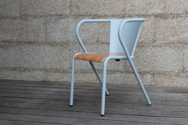 Chaise Lisbonne pour hôtels et restaurants, Lisbon metal chair for hotels and restaurants