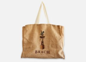 Custom jute beach bag