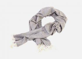 Herringbone wool scarf