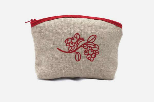 trousse de maquillage brodée;custom embroidered makeup bags