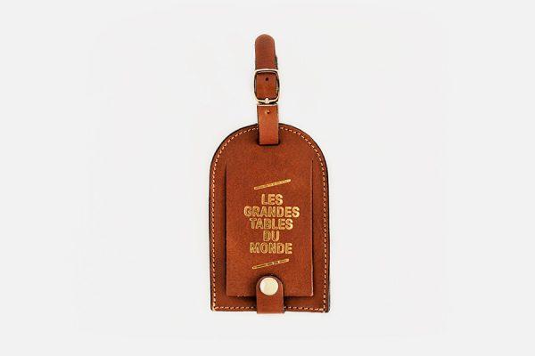 Custom leather luggage tag-Étiquette à bagage personnalisée en cuir