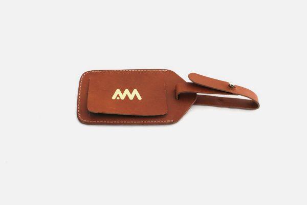 Étiquette de bagage de luxe personnalisée en cuir, Custom luxury leather luggage tag - Étiquette de voyage personnalisée en cuir