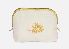 Custom embroidered cosmetic bags