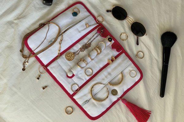 Pochette à bijoux de voyage; Travel jewellery bags