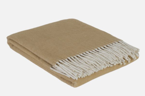Personalized herringbone blanket - Plaid à chevrons personnalisable