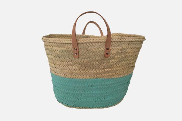 Customizable beach straw baskets - Panier en osier personnalisable