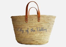 Customizable beach straw baskets