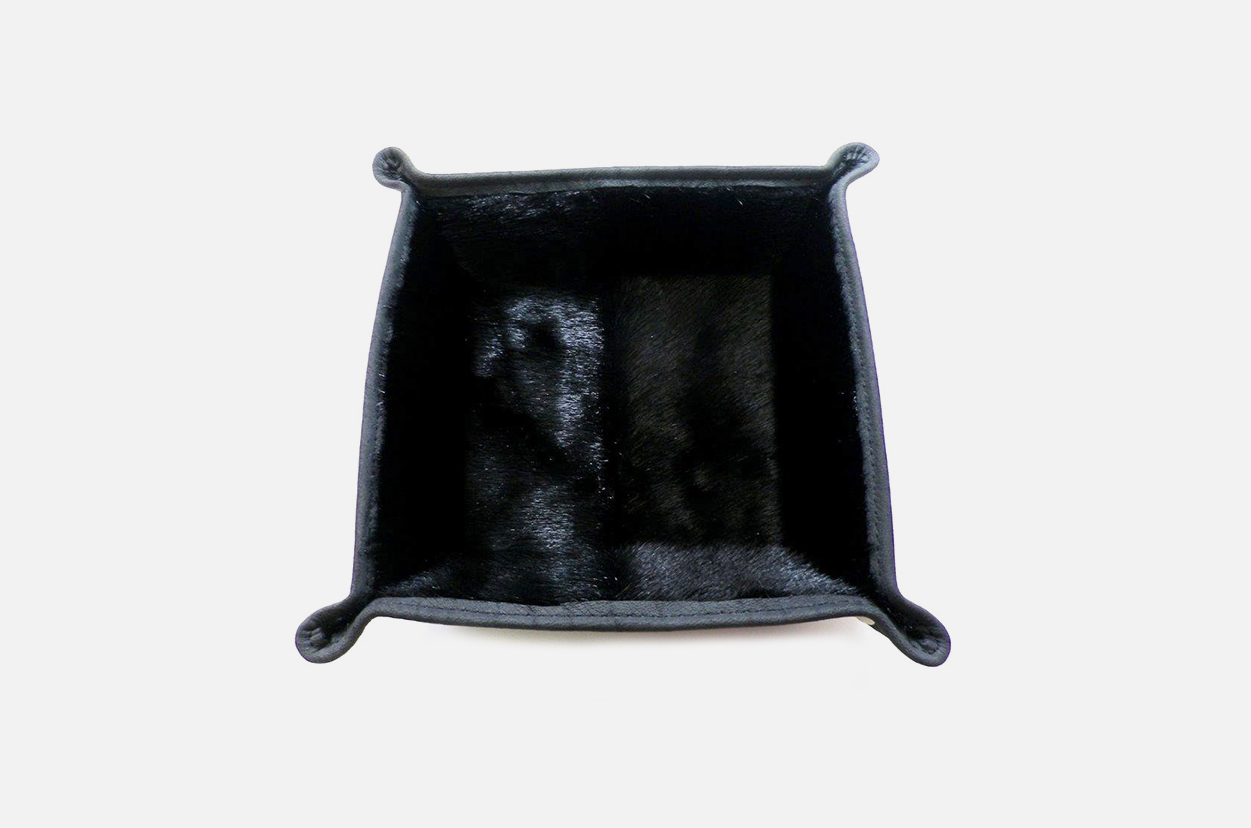 Vide-poche en cuir Personalized hotel leather tray