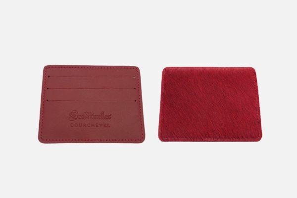 Porte-cartes en cuir et peau de vache-Custom cowhide card holder