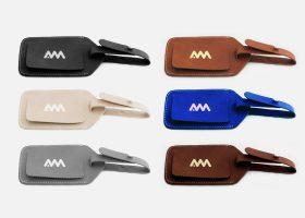 Étiquette de bagage de luxe personnalisée en cuir