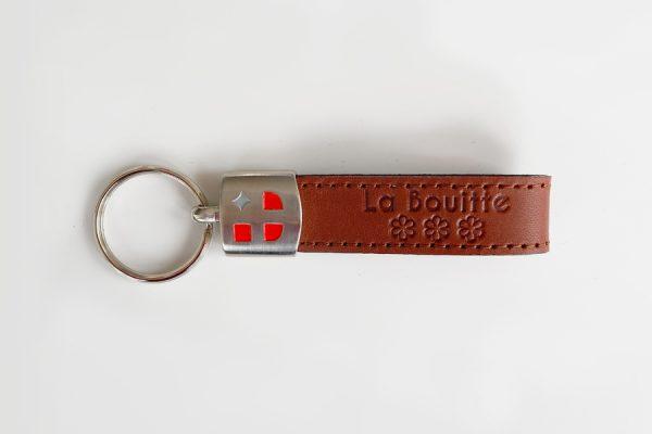Custom leather and metal key rings - Porte-clés personnalisés en cuir et métal