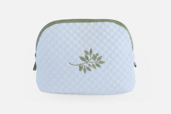 Custom embroidered cosmetic bags;trousse de toilette personnalisée brodée