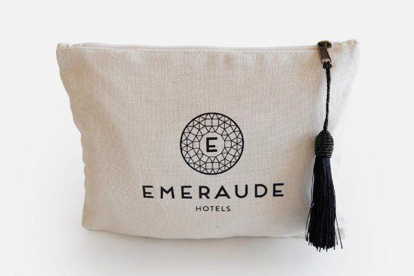 Custom cotton pouch with tassel,Trousse en coton personnalisée
