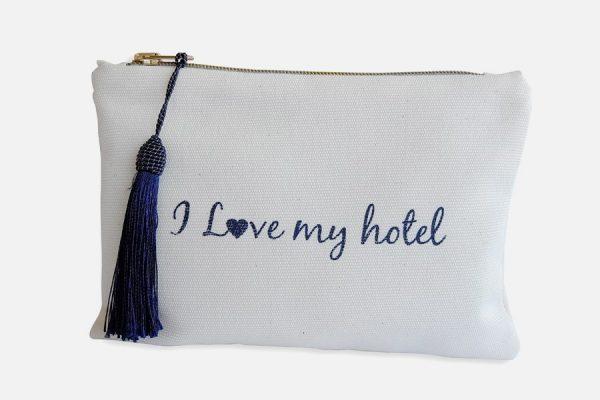 Custom canvas pouch or makeup bag ,Trousse en coton personnalisée