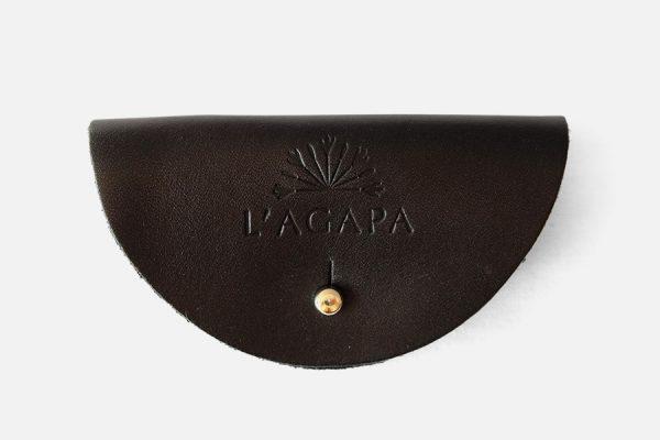 Custom leather cable holder - Porte-câble promotionnel en cuir