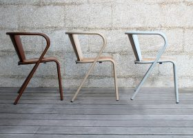 Lisbon metal chair for hotels and restaurants