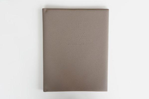 custom menu covers for hotels and restaurants, menus en cuir pour hôtels et restaurants