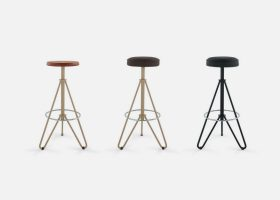 Vintage metal bar stools