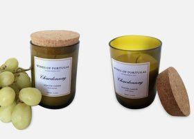 wine scented candles in private label, Bougies luxes aux arômes de vin personnalisées