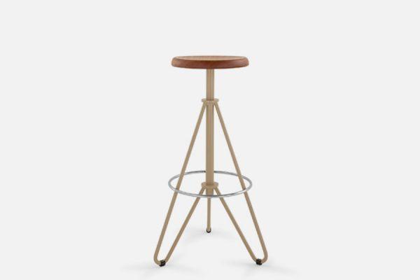Vintage metal bar stools, Tabourets de bar en métal vintage