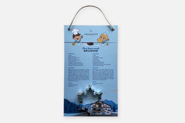 Recipe board with mould - Recette cartonnée avec moule