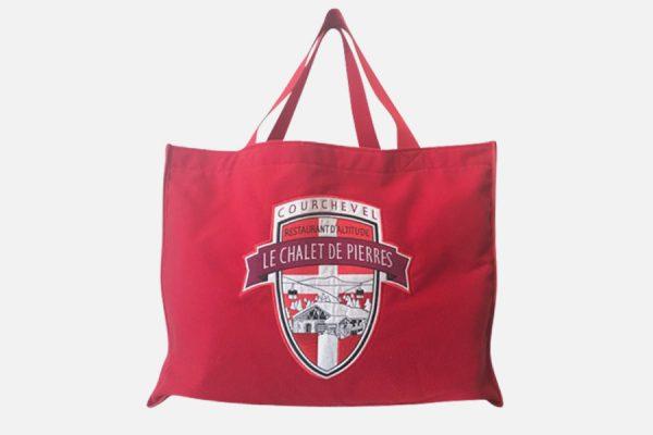 Custom embroidered tote bag , Grand cabas en molleton personnalisé