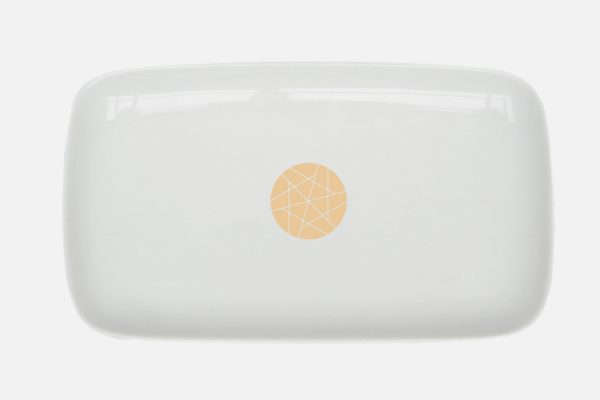 Réglette en porcelaine personnalisable,customizable porcelain rectangular tray