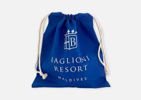 Custom waterproof drawstring bag