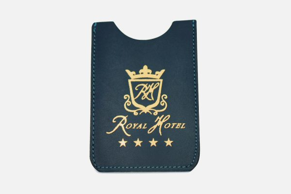 Custom leather key card sleeve , Fournisseur de porte-cartes en cuir personnalisé