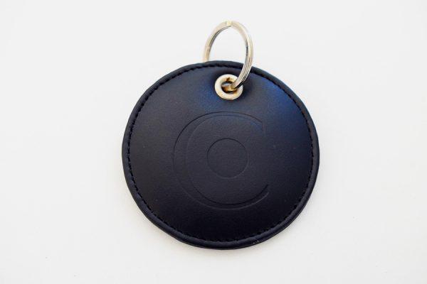 Luxury custom round keyrings,Porte-clés ronds en cuir de luxe