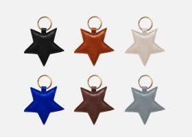 Porte-clés étoile en cuir personnalisés