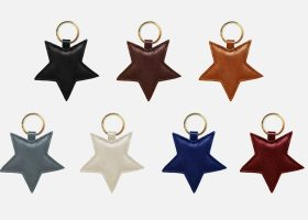 Custom star leather key rings