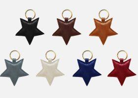Custom star leather key rings